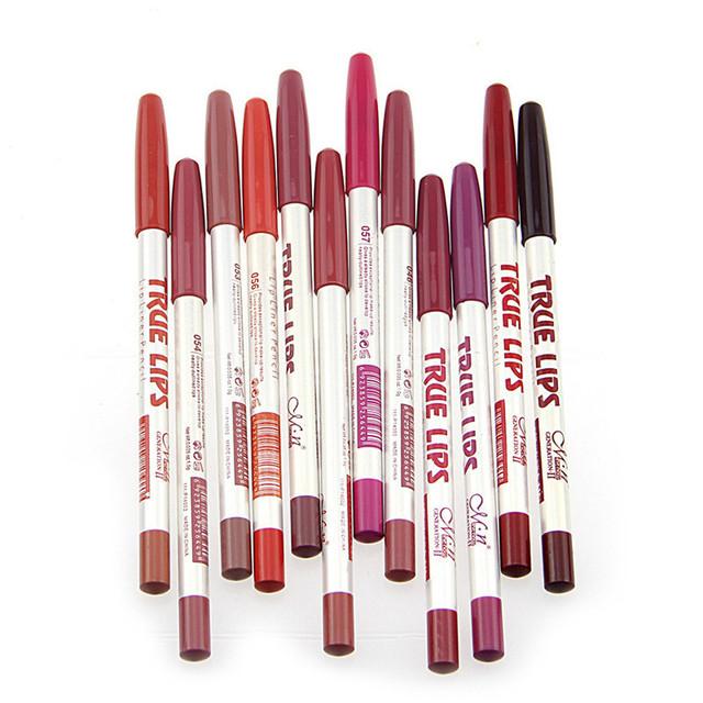12 unids/lote 15 CM 12 Colores/Set Impermeable Delineador de Labios Lápiz Delineador de Labios Profesional de la Mujer de Larga Duración de Maquillaje herramientas