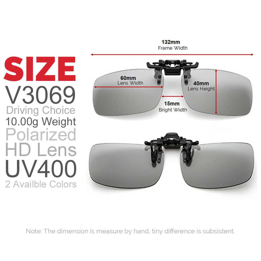 ae40f0646575 ... VIVIBEE Polarized Square Flip Up Clip on Sunglasses Men Photochromic  Polarised Women Sun Glasses for Night ...