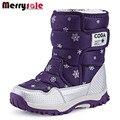 2016 nuevos niños de invierno nieve botas mujer botas cálidas zapatos de invierno
