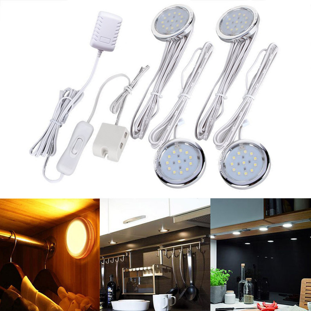 4 pack led home kitchen under cabinet lis