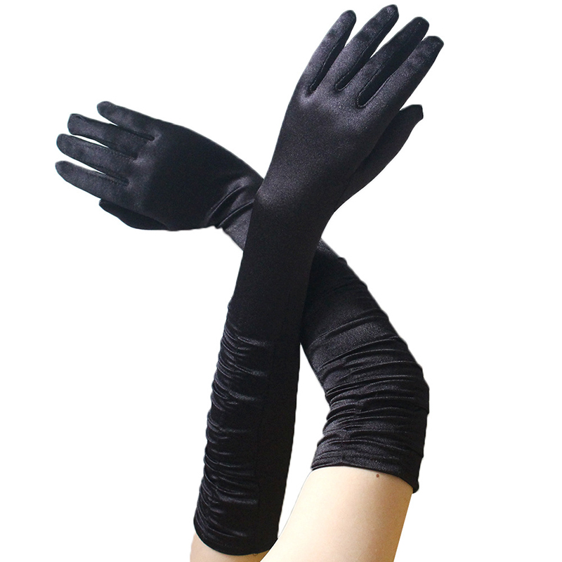 Stretch Satin Extra Long Gloves Wrist Elbow Opera Evening Party Fancy Costume US