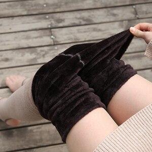 Image 1 - 1800D grube zimowe damskie rajstopy z polaru ciepłe rajstopy Slim Sexy elastyczna Collant rozciągliwe rajstopy pończochy pełnej stopy bez stóp