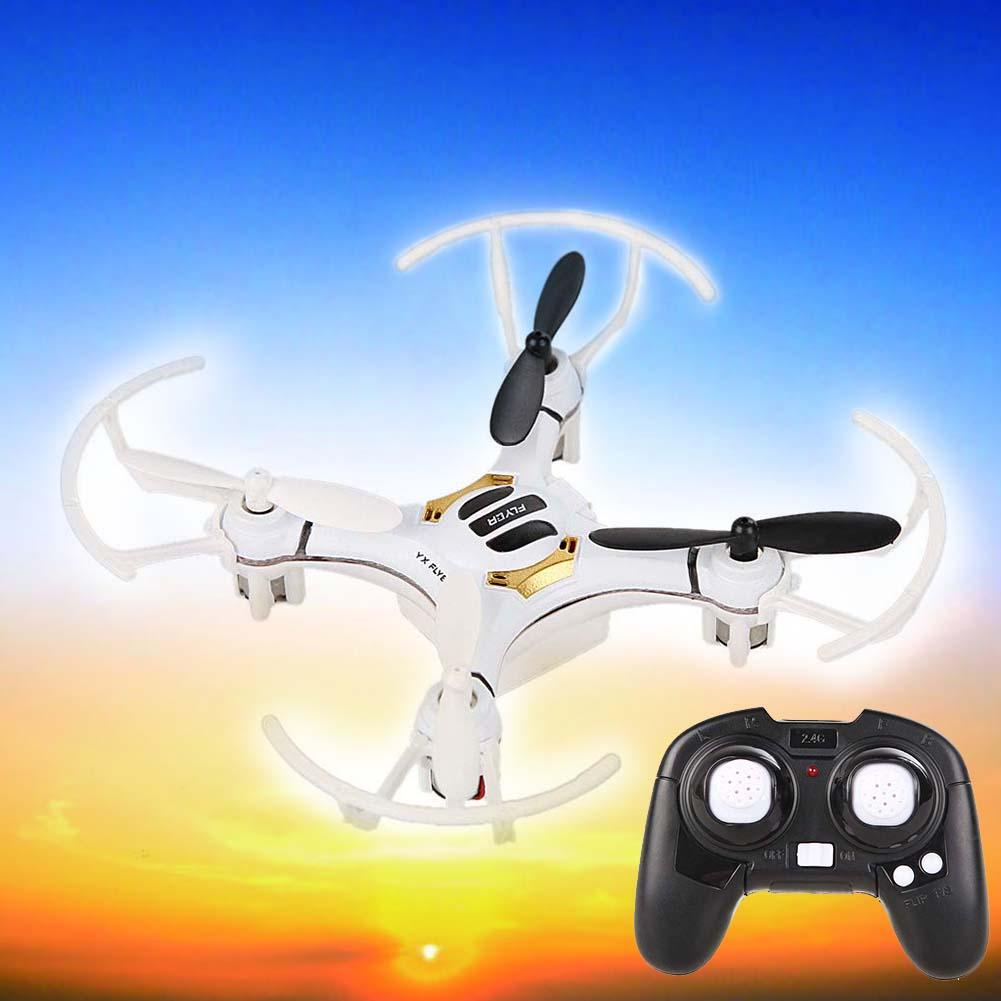 Mini White 4Ch 4 Axis 2.4G Nano RC Quadcopter Helicopters kvadrokopter Drones LED RTF Micro RC Quadrocopter Toys Gift USB Cable