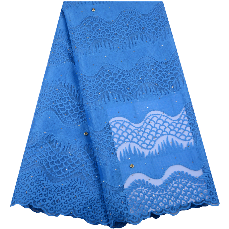 2019 High Quality African Milk Lace Fabric French Mesh Lace Fabric Stones Nigerian Milk Silk Lace Fabrics For Party Dress  A1504
