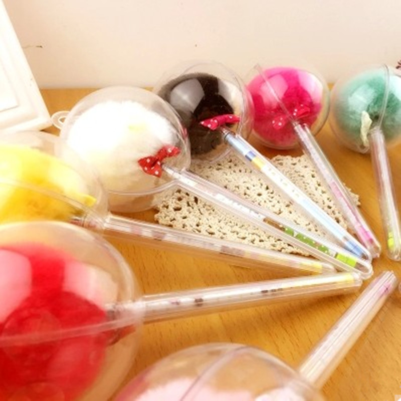 Sydkorea Kreativ Candy Farve Pels Blush Ball Shape pen Sød farverig - Kuglepenne, blyanter og skrive forsyninger - Foto 3