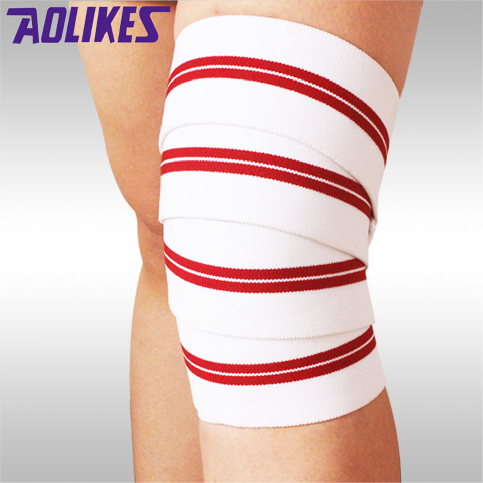 Aolikes 1PCS Elastic Bandage Tape Sport Knee Support Strap Knee Pads Kinesiology Protector Band For Joelheira Leg Wrist Wrap