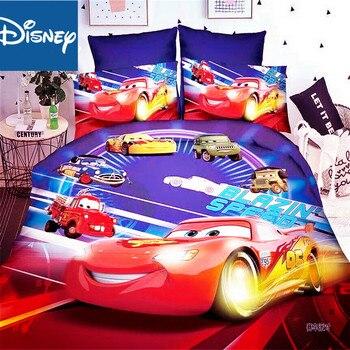 Disney Mcqueen samochodów powłoczki niebieski kolor prędkości kołdra pokrywa narzuta twin poszewki jeden rozmiar pościel dla chłopców hot