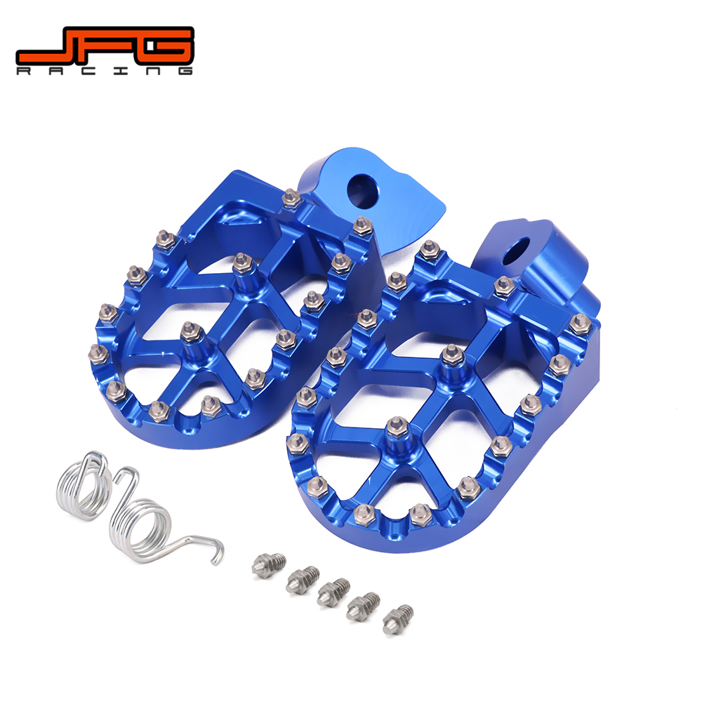 Motorcycle Billet Foot Pegs Rests Pedals For YAMAHA YZ 85 125 250 YZ250F YZ426F YZ450F YZ125X YZ250X WR250F WR400F WR426F WR450F