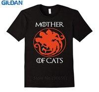 Custom Shirt Design Gildan Crew Neck Men Best Friend Mother Of Cats Broadcloth Short T Shirt