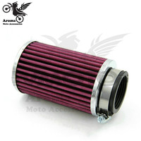 big size metal 46mm 48mm 50mm 52mm 54mm 60mm motorbike air filters moto air cleaner for Harley Davidson motorcycle air filter