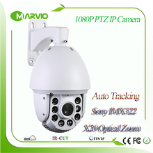 2MP megapixel Full HD 1080P Auto tracking IP PTZ Network Camera 20X Zoom Sony IMX322 sensor 150m Laser IR Distance Ambarella