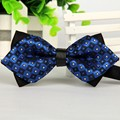 SHENNAIWEI pointed 12 cm and 6 cm navy blue men's novelty bow ties Casual Jacquard Korean England 2016 new