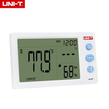Cheaper UNI-T A10T Temperature Humidity Meter Weather Station Tester With Alarm Clock Function