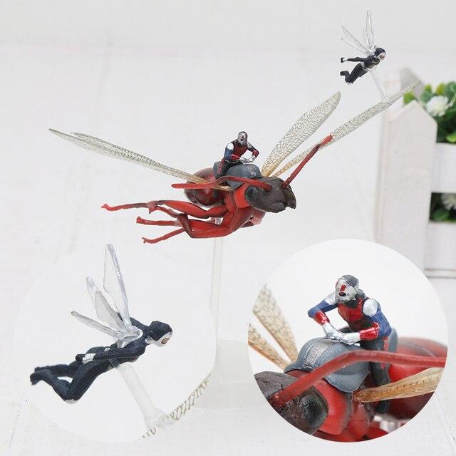 11 centímetros de Super-heróis HOMEM-FORMIGA FORMIGA HOMEM e a vespa em Voar PVC Action Figure Toy Collectible