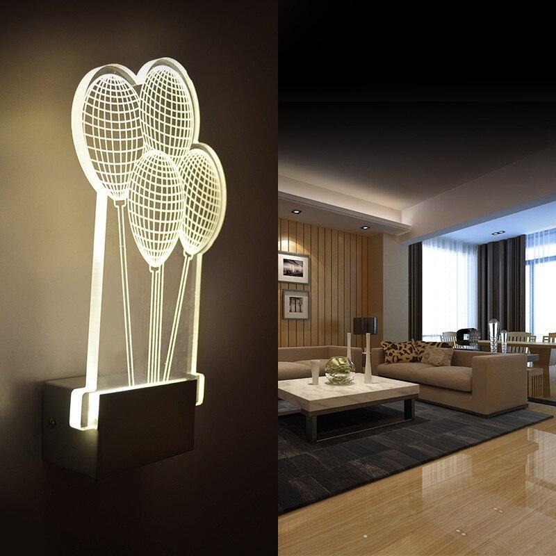 Современные светодиодные Настенные светильники, шар, свет, креативная прикроватная лампа для спальни, акриловая ванная комната, гостиная, д