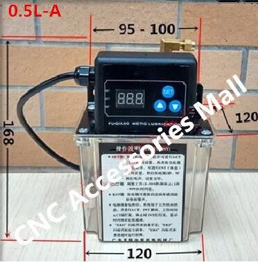 0.5L Automatique pompe De Lubrification 220 V Numérique Minuterie électronique Pompe À Huile Pour CNC routeur