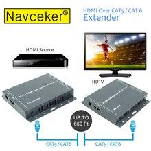 2019 IP Network RJ45 HDMI Extender RJ45 Over Cat5 Cat5e Cat6 660ft HDMI Extensor By UTP/STP LAN Network Ethernet HDMI Extender