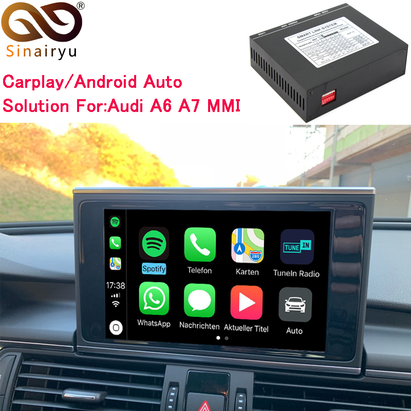 US $242 99 19% OFF|Sinairyu Video Interface with Apple Carplay for Audi A6  A7 Original Screen Upgrade MMI system iOS AirPlay ( 2010 2018 )-in Car