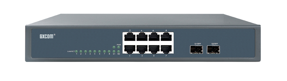 8-poorts Gigabit Ethernet-switch met 2 SFP
