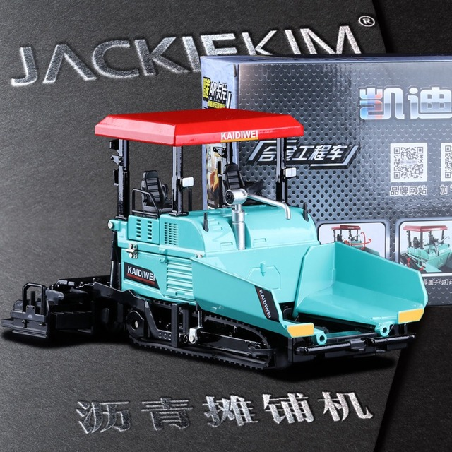 Simulation 1:40 Engineering Alloy Paver Paving Asphalt Highway Construction Car Vehicle Model Decoration Kid Toys Free Shipping