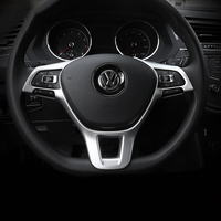 1pcs ABS Steering Wheel Trim Cover Steering Wheel Button Cover Car Stickers For Volkswagon VW Tiguan