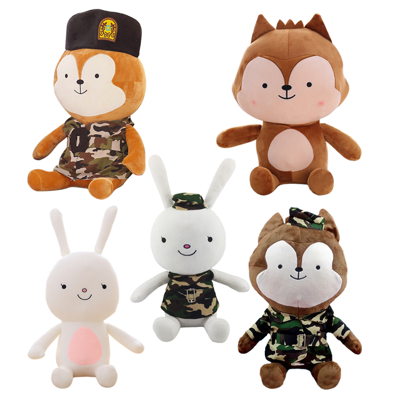 1pc 30cm Cute Descendants of the Sun The Same Paragraph Plush toy Secondary Group Wolf King & Rabbit Soft Stuffed doll kids Gift 90cm large stuffed plush rabbit toy korea long arms rabbit soft doll super cute