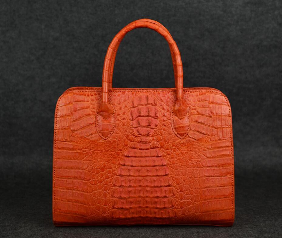 Étiquette Logo Gros Femmes Postier Réel De Personnalisé Directe À Main Livraison Véritable Crocodile Privé En Accepter Sacs Cuir BEq5AA