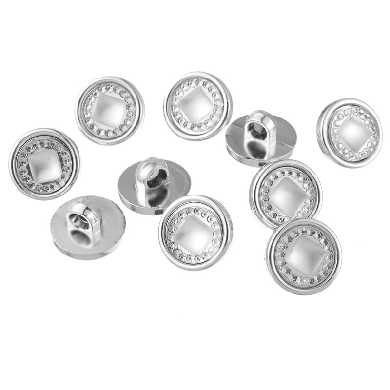 Hoomall 10mm Rhinestone Buttons Plastic Acrylic Buttons Craft DIY Scrapbooking  Shank Buttons Sewing Accessories 100PCs-in Buttons from Home   Garden on ... 153d8a5a0e28