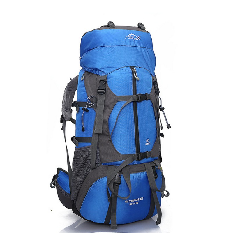 2018 Outdoor Local Lion Outdoor camping Bag 65L Men Women Hiking Climbing Travel rucksack Sport Bags Large Waterproof backpack lemochic high 65l outdoor mountaineering bag waterproof sport travel backpack camping hiking shiralee luggage canvas rucksack