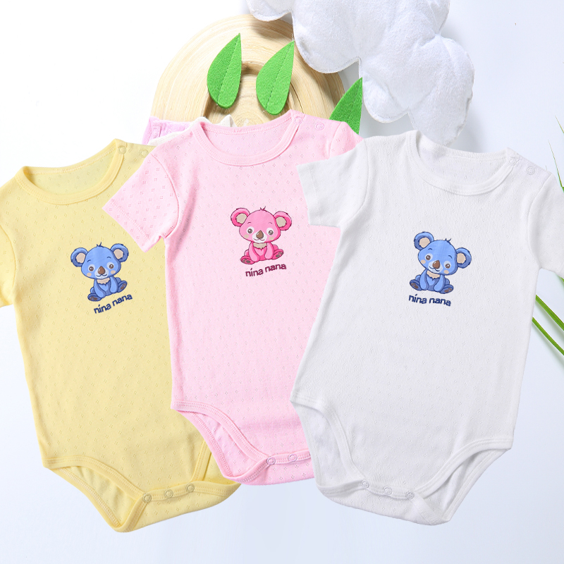 Baby Newborn 100% Cotton Baby Bodysuit Infant Jumpsuit Overalls Short Sleeves Baby Pyjamas Kids Clothes Children Summer Clothes
