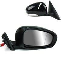 الطاقة ساخنة & قابل للتعديل الزجاج LED مصباح ل/RH الجانب مرآة لتويوتا Reiz 2010 2012-في مرآة وأغطية من السيارات والدراجات النارية على