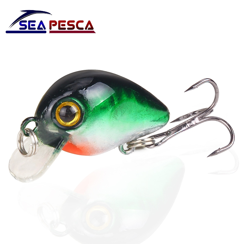 SEAPESCA Mini Crank Wobblers 3cm 1.6g Artificial Hard Bait Fishing Lures Japan Minnow Swimbait Fishing Gear JK205 savage gear dying minnow