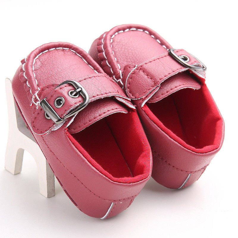 Newborn Girl Boys Baby Soft Sole Crib Shoes Toddler Sneakers Cute Girls Solid Leather Leather Shoes 0-18M
