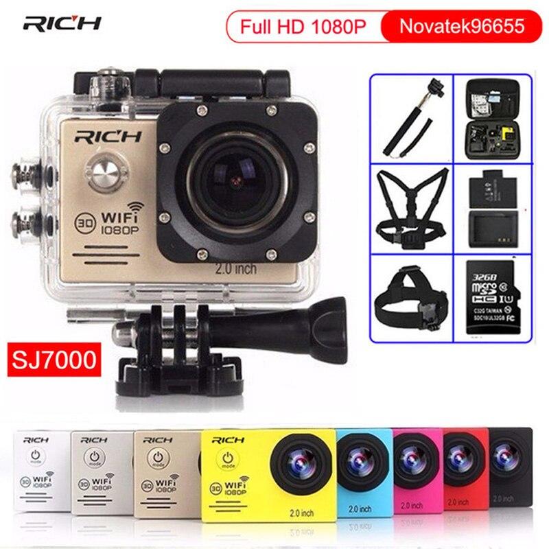 Action Camera Full HD 1080P 30FPS NTK96655 Helmet Cam Wifi 170D Lens Diving 30M waterproof Bicycle Sports camera