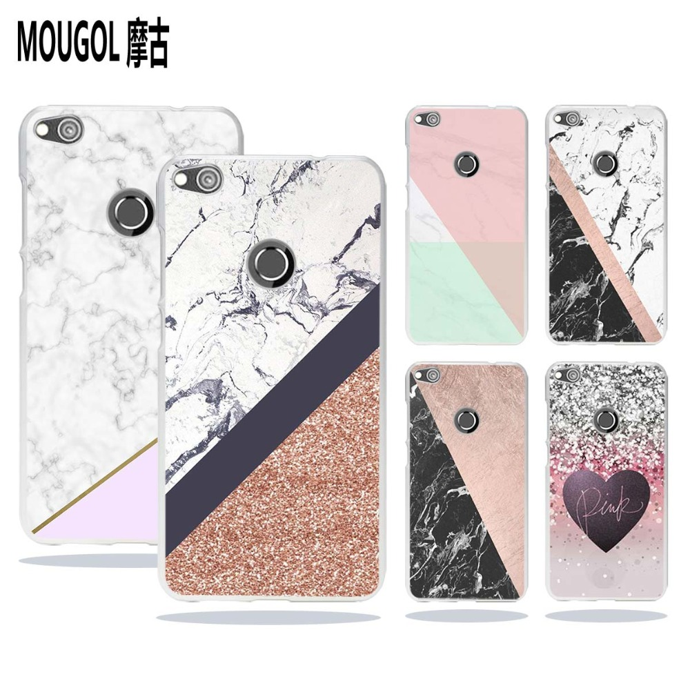MOUGOL Marble Line Luxury design transparent hard Phone case cover for Huawei Honor Mate 8 P8 P9 P10 Lite 2017 Plus