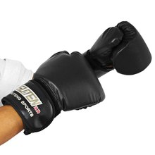 2016 New 3 Colors 1 Pair Boxing font b Gloves b font PU Leather Mitts Mitten