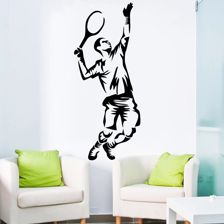 Basketball Player Vinyl Wall Stickers Portrait American Sports Wall Sticker Gym Home Decor Art Decal New Arrivals Mural High Quality Materials Wall Stickers