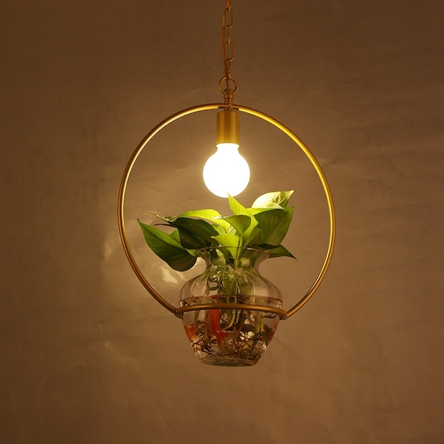Superb Rural Glass Flower Pots Flowers And Plants Potted Pendant Lamps Creative  Geometry Green Terrace Dining Room