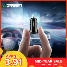 Ugreen Mini USB Car Charger For Mobile Phone Tablet GPS 4.8A