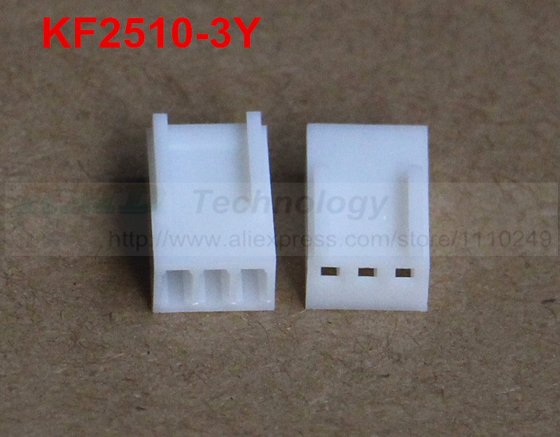 50pcs/lot KF2510 KF2510-3Y Female connector housing 2.54mm 3pin free shipping 50pcs lot kf2510 kf2510 3aw male