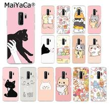 MaiYaCa Kawaii Molang Cartoon Anime hond kat Telefoon Geval voor Samsung Galaxy S9 plus S7 rand S6 S10 Lite S10Plus s10E S8 plus M10(China)
