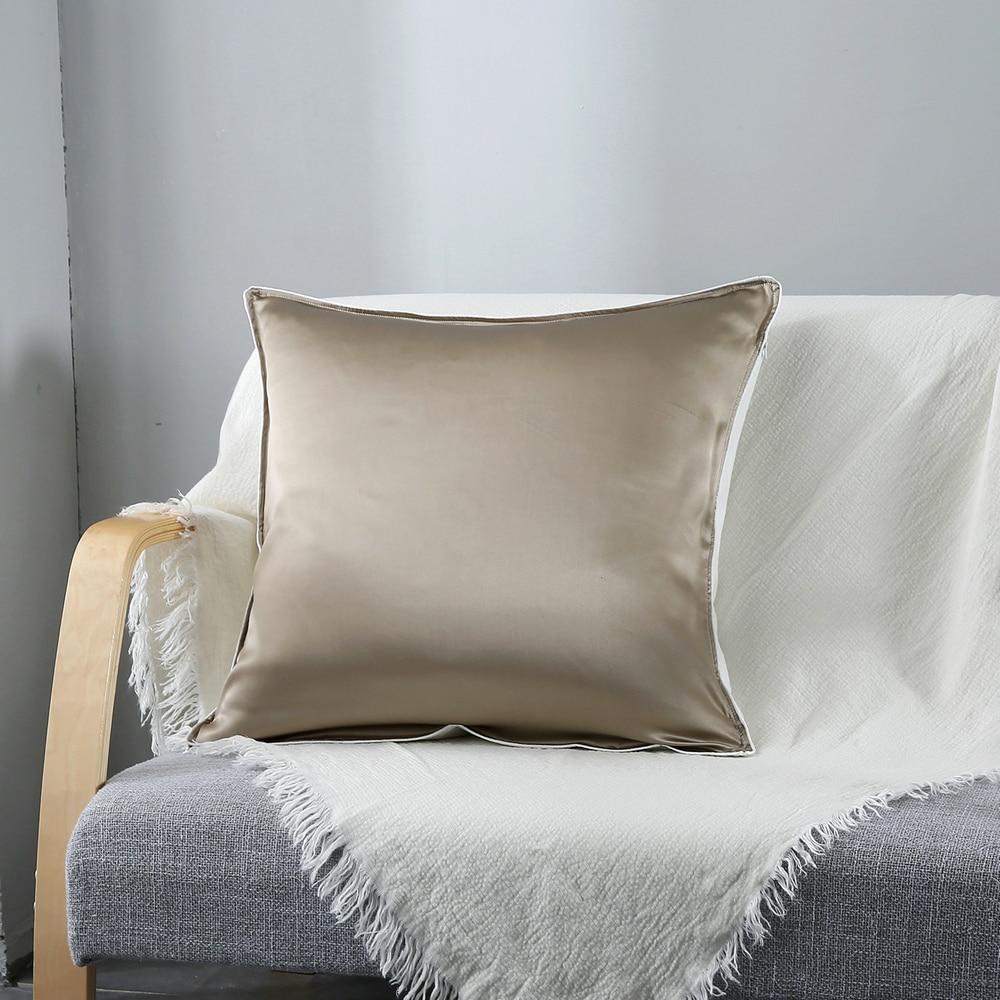 Mulberry Silk Square Pillowcase Single Side Silk Cushion