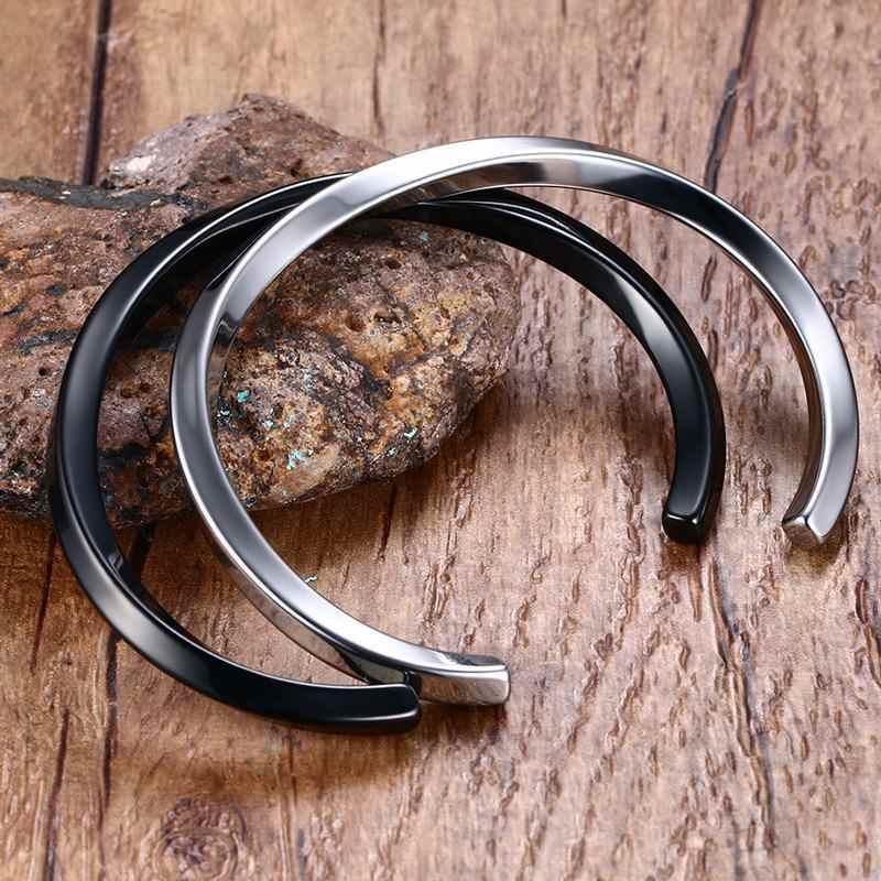 4 мм Винтажный серебряный черный Панк мужской браслет 316L нержавеющая сталь браслеты для мужчин Pulseira Masculina ювелирные изделия
