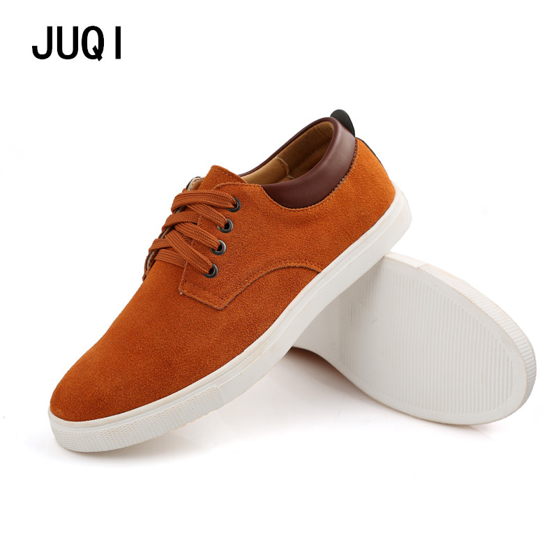 2017 Hot Sale Brand New fashion suede Men Shoes Mens canvas shoes leather Casual Breathable Shoes flats Free Shipping