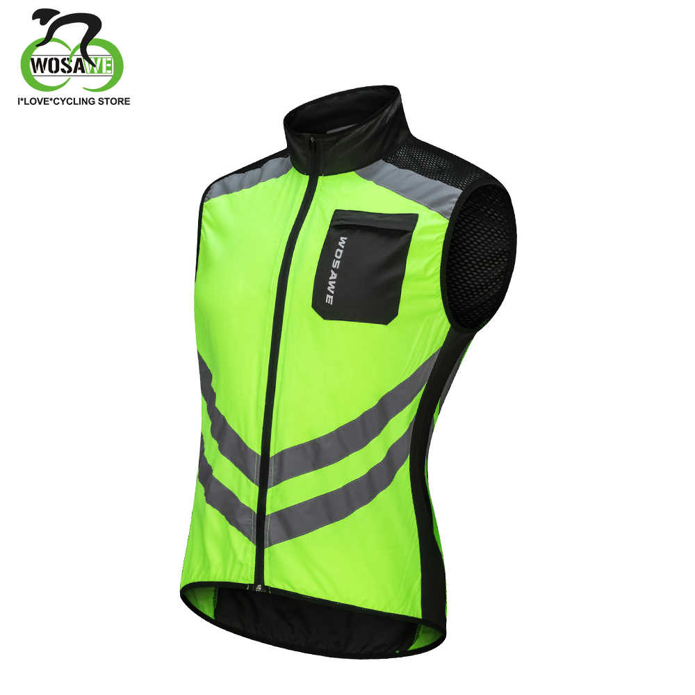 WOSAWE Pro Women Men s Cycling Vest Reflective Windproof Waterproof  Breathable Clothing MTB Bike Bicycle Jacket Sleeveless e3530e633