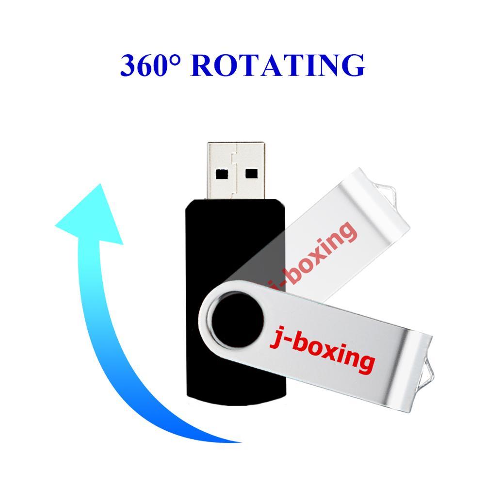 J boxing USB Flash Drives 1GB 2GB Thumb Drive 4GB 8GB Metal Swivel Pendrive 16GB 32GB USB 2 0 Memory Stick 5PCS Lot for PC Black in USB Flash Drives from Computer Office