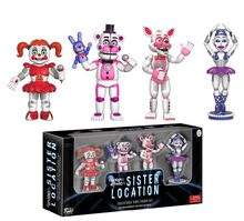 Funko pop 4pcs/set 5cm Five Nights at Freddy's Sister Location & Ballora Baby Freddy Foxy PVC action figure toys for children(China)