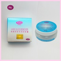 30g Pack Solid Cream Eyelash Remover Individual False Eyelashes Extension Application Tool Eyelash Glue Remover Free