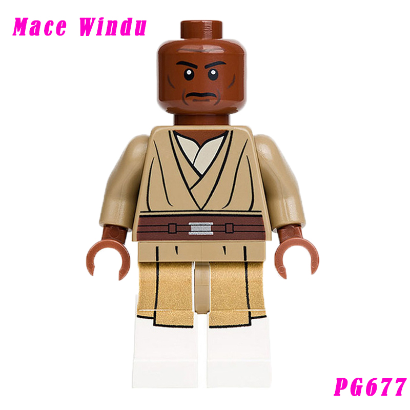 Single Sale Star Wars Pg677 Jedi Master Mace Windu With Lightsaber Mini Dolls Assemble Building Blocks Education Gift For Toys