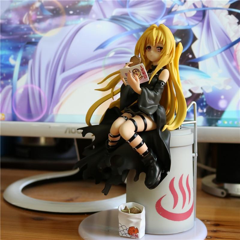все цены на To Love Ru Darkness: Golden Darkness Figure eatting cookie figurine